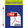 Standskizze PopUp Messe-Theke